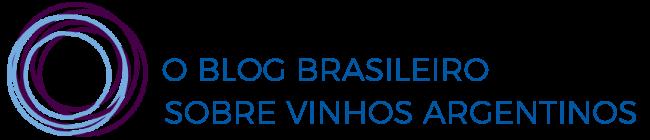 Logo Vinhos Argentinos, esferas sobrepostas em roxo e azul